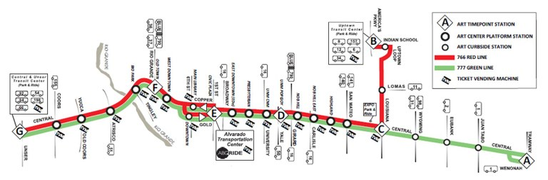 ART Transit Map Detailed