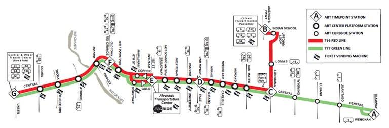 ART Transit Map Detailed