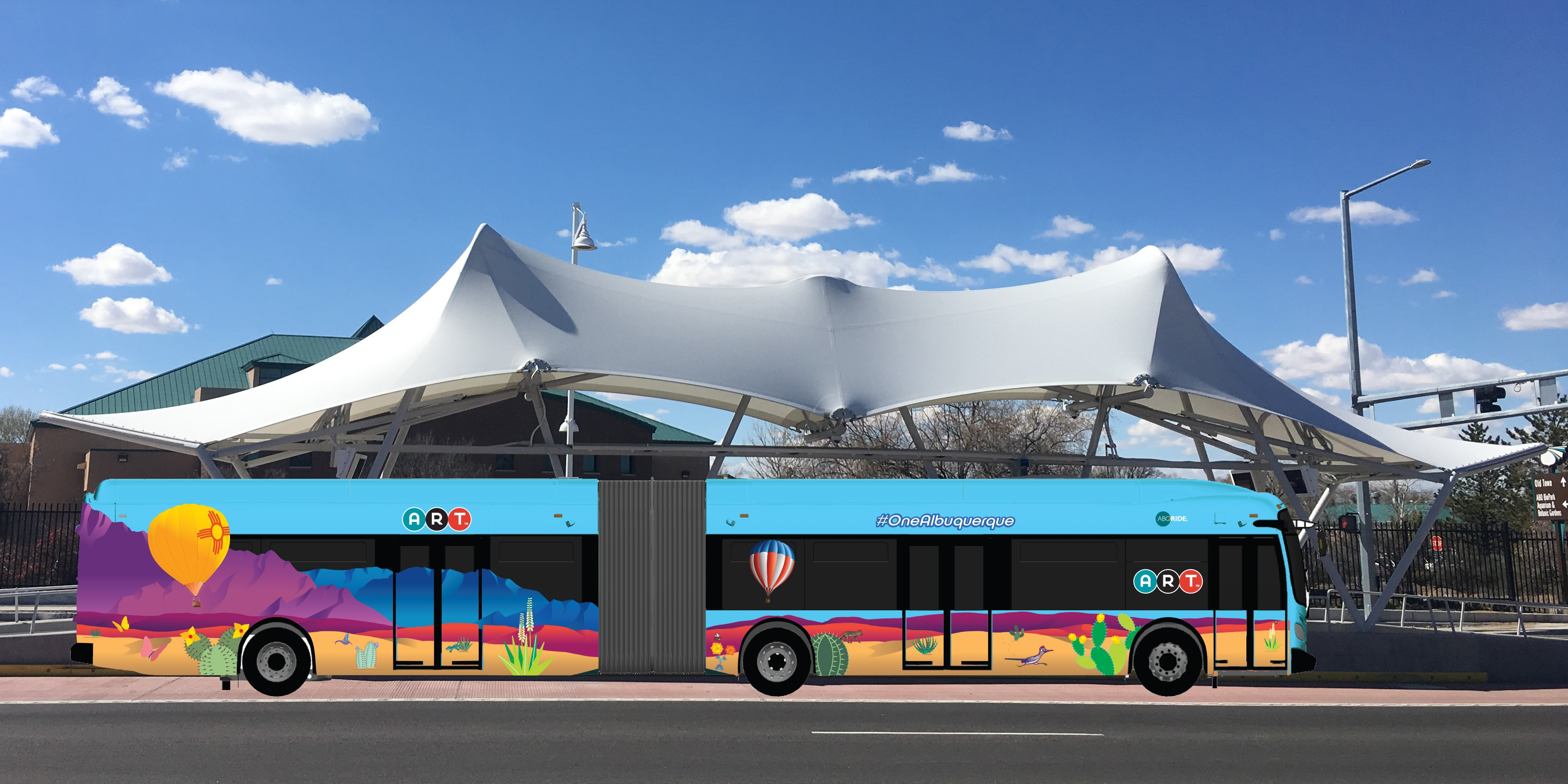 ART Bus-New Flyer-Balloon and ART Station