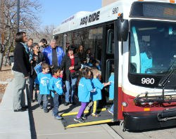 Kids in Motion Participants Boarding Bus