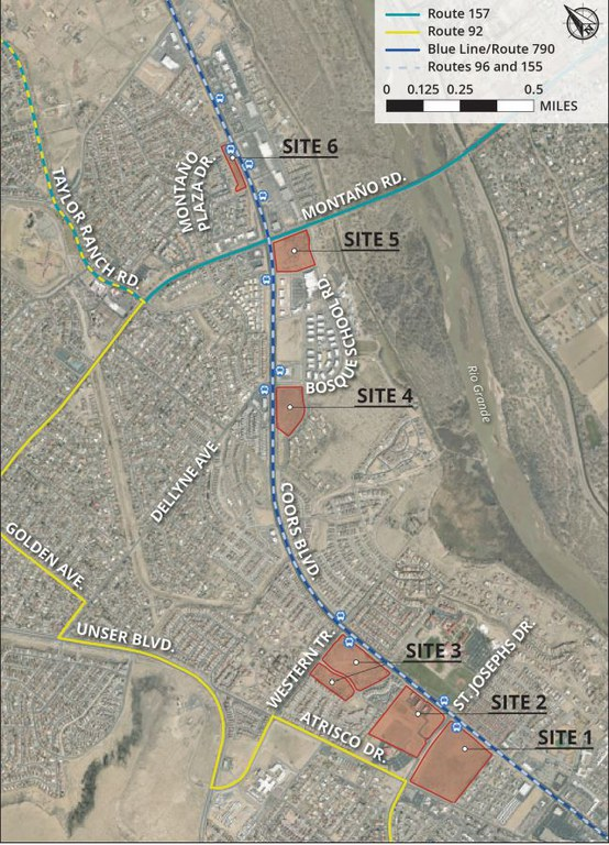 Map-PUBLIC MEETING Coors Blvd. Park-and-Ride facility location study