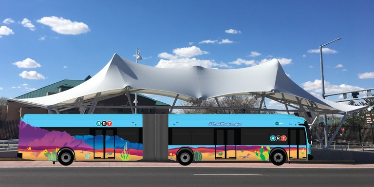 ART Bus-New Flyer-Mountains and ART Station