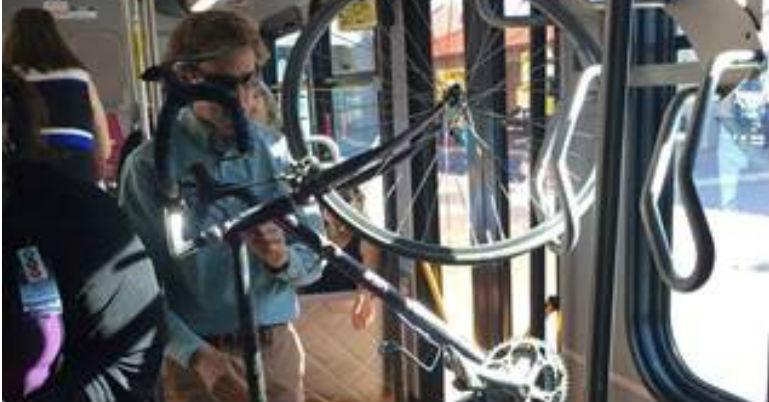 Interior Bus Stowage on ART - portrait