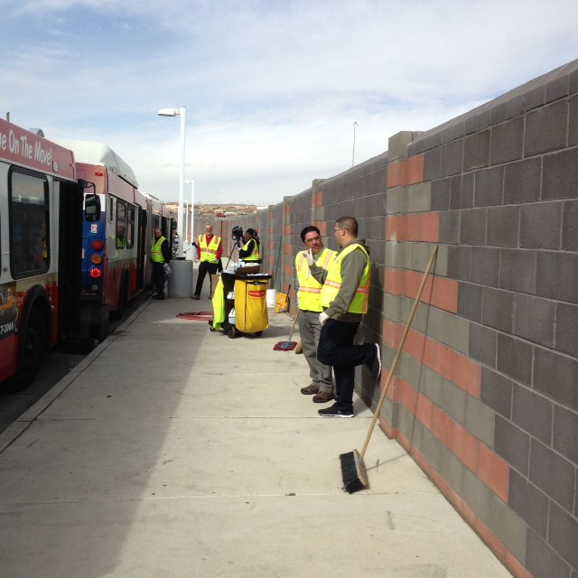 Cleaning Buses 5