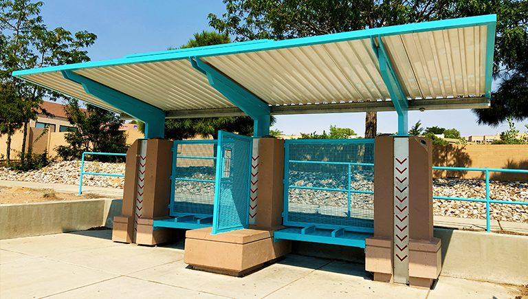 An Albuquerque Transit bus stop.