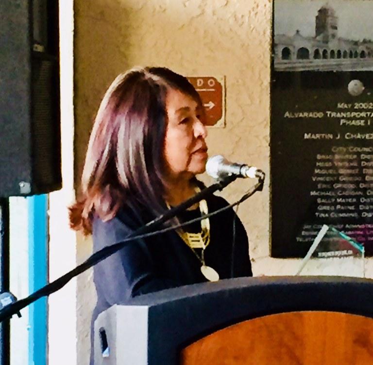 Veronica Velarde Tiller-speaking