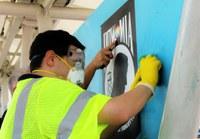 Transit Advisory Board, volunteers cleanup ART stations