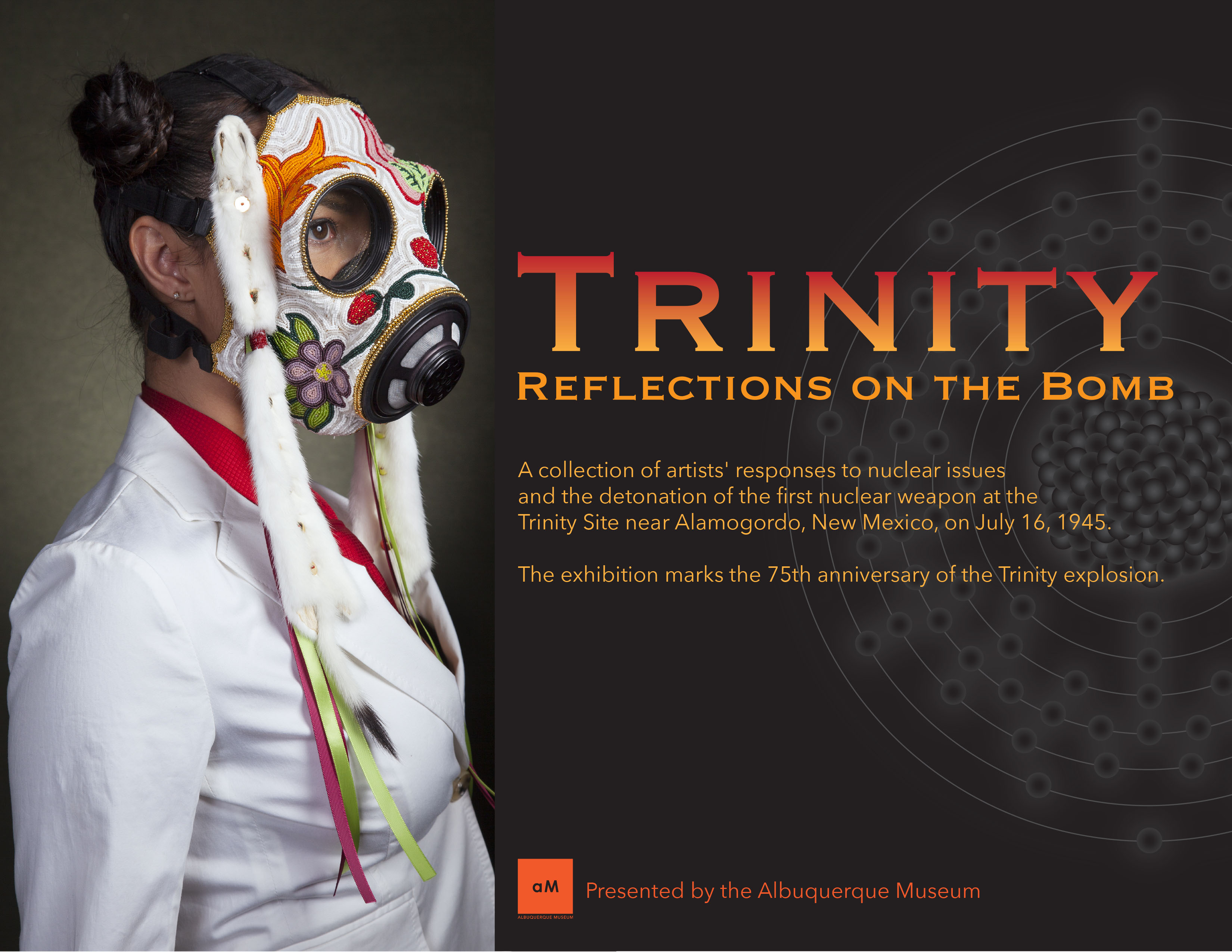 Trinity: Reflections on the Bomb. A collection of artists' responses to nuclear issues and the detonation of the first nuclear weapon at the Trinity Site near Alamogordo, New Mexico, on July 16, 1945. Presented by the Albuquerque Museum.