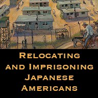 Button relocating and imprisoning japanese americans