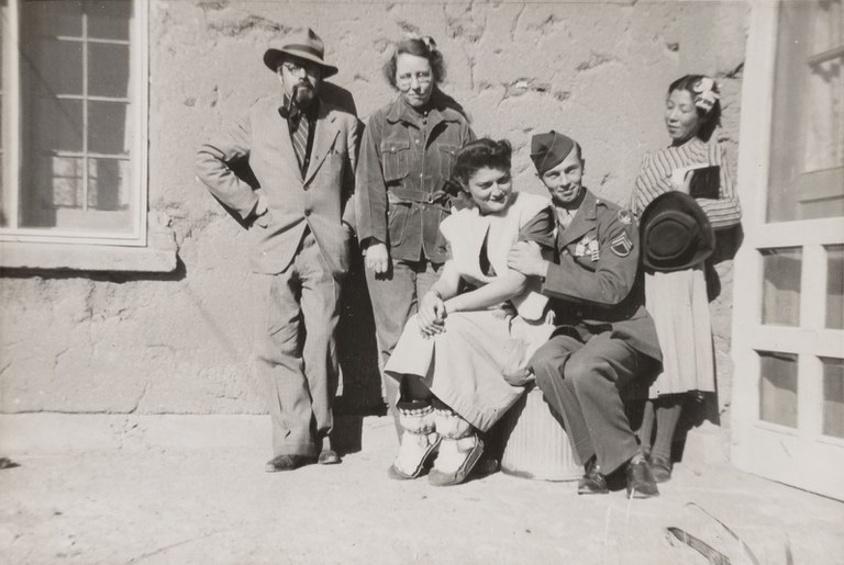 Unidentified Artist, Miki Hayakawa with other Santa Fe Artists