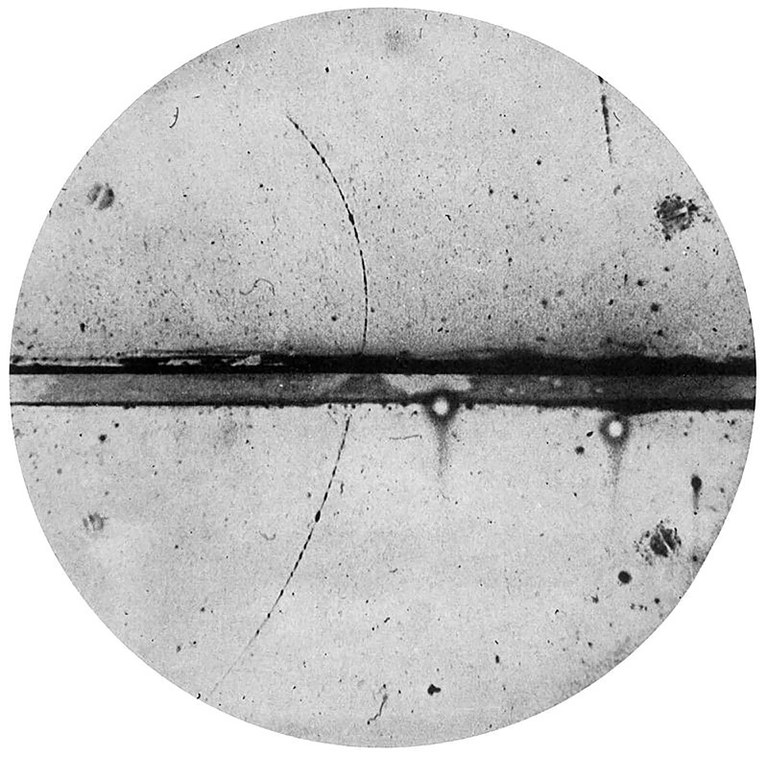 Carl Anderson, Cloud Chamber Photograph of a Positron, 1932