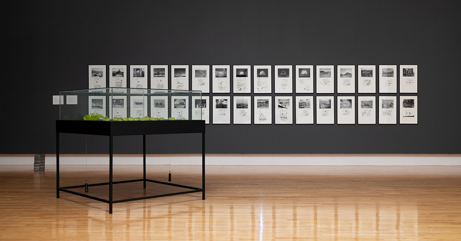 Mary Kavanagh, installation view of Trinity Archive, 1945-1946