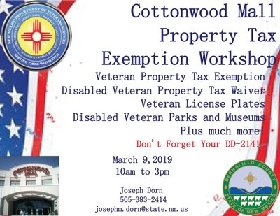 Cottonwood Mall Property Tax Exemption Workshop