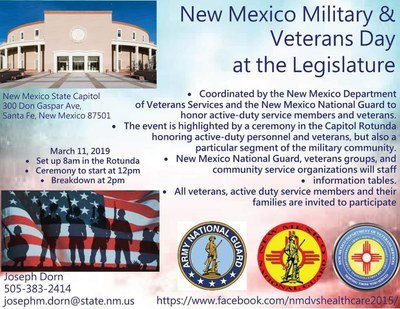 New Mexico Military & Veterans Day at the Legislature