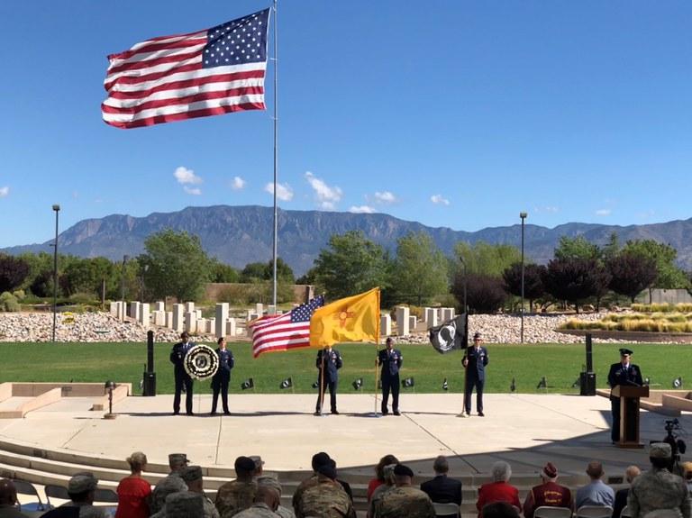 POW MIA Ceremony 2018 at New Mexican Veterans' Memorial