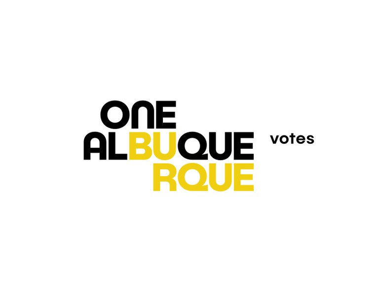 The One Albuquerque Votes logo.