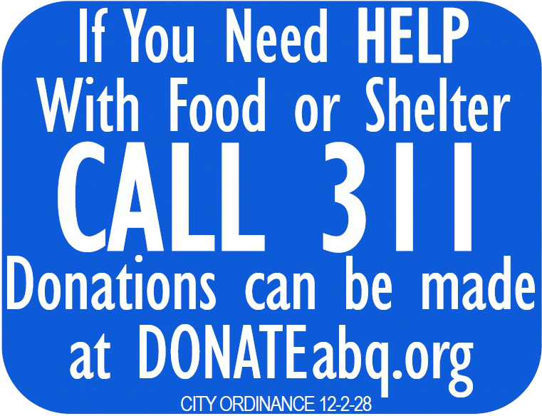 Call 311 to Donate Sign