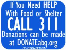 DonateABQ: CABQ Sign