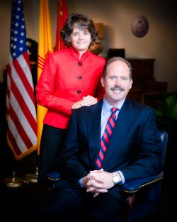 First Lady Maria Berry and Mayor Richard J. Berry