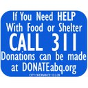 Shelter Call 311 Sign - Square