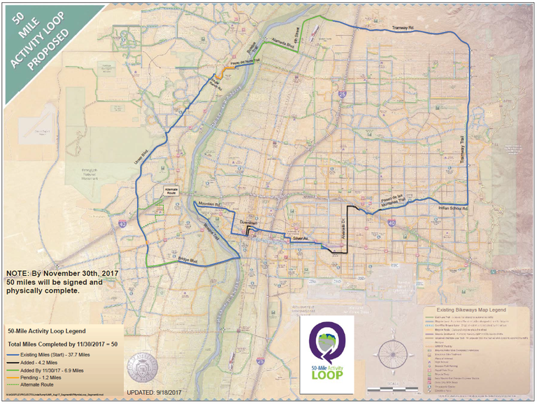 50 Mile Activity Loop Map dated Oct. 6, 2017