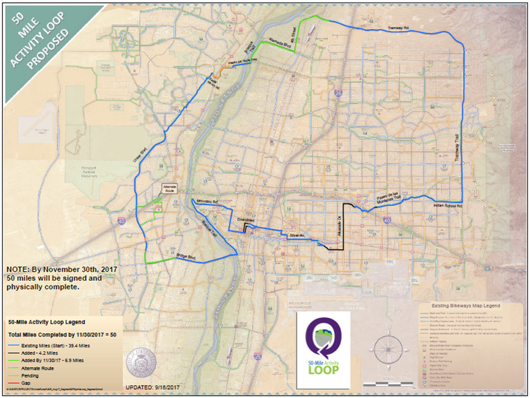 50 Mile Activity Loop Map as of Sept. 19, 2017
