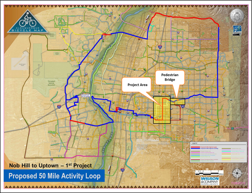 50 mile loop - 1st project map