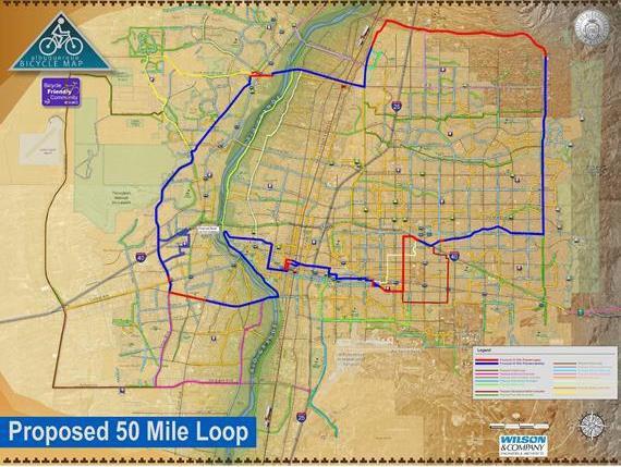 50-Mile Loop Map