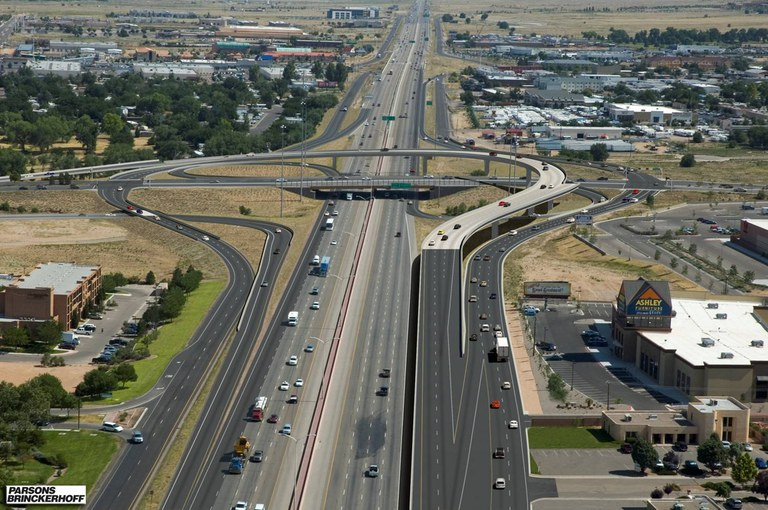 Paseo del Norte at I-25 Northbound View