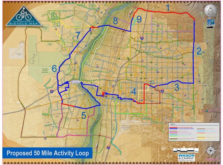 50-Mile Activity Loop Map