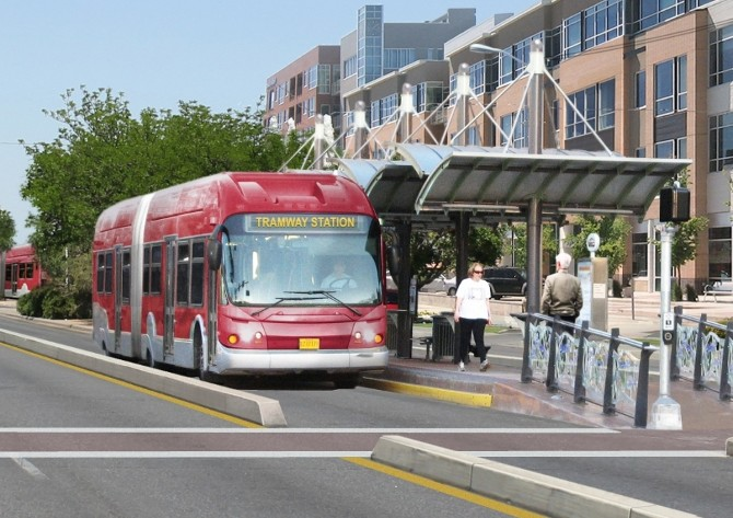 Image of the proposed Bus Rapid Transit for ABQ The PLAN.