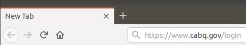 In the web browser's address field, type: https://www.cabq.gov/login