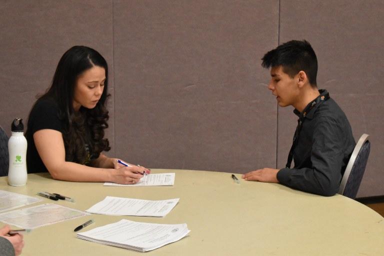 Interview at Job Fair