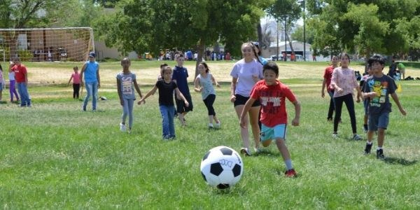 Children participating in the Manzano Mesa Multigenerational Center Family Night Program.