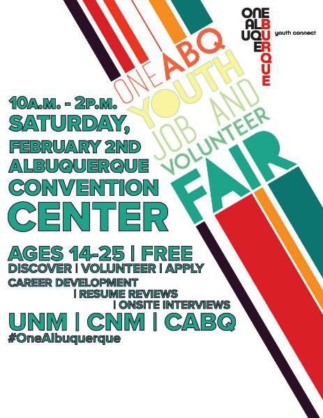2019 Youth Job and Volunteer Fair Flier