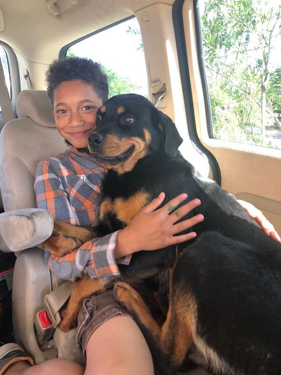 Youth Volunteer with Dog