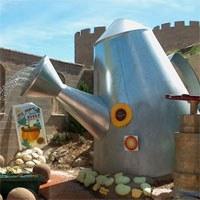 Watering can at Botanic Garden